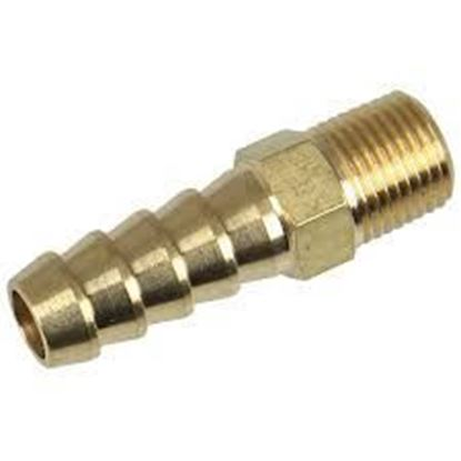 Picture of Brass Straight Fuel Union 1/8th NPT- 8mm